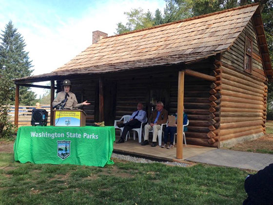 State park officials dedicated the newly restored Jackson House in October 2017.
