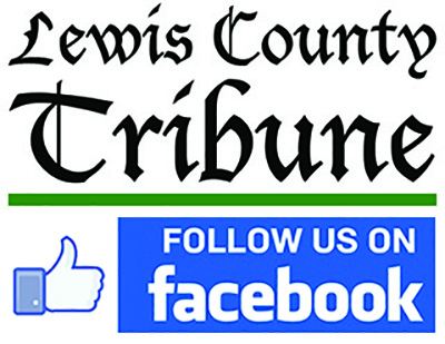 Advertisement for Lewis County Tribune's Facebook page.