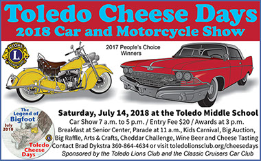 Advertisement for Toledo Cheese Days.