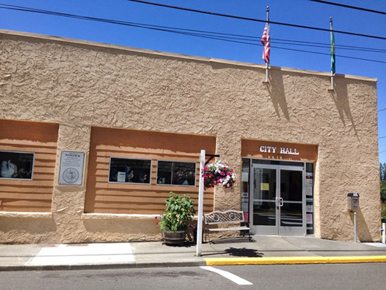 street view of Winlock City Hall
